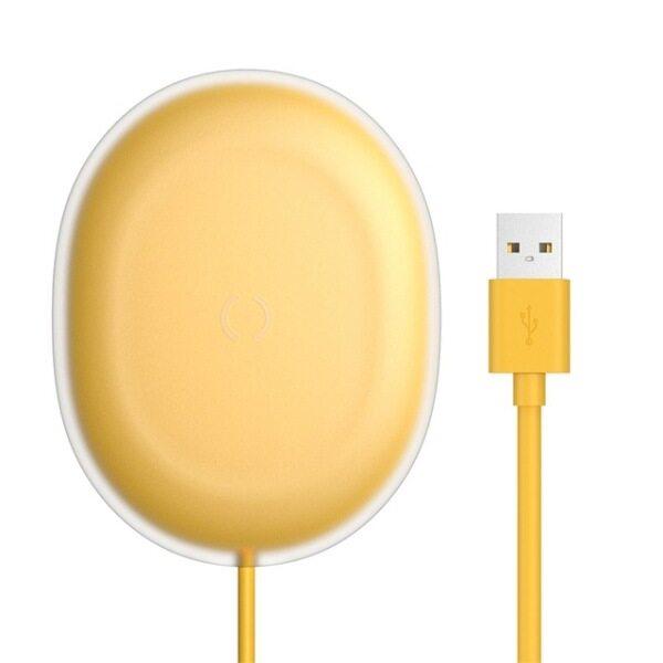 Sạc Không Dây Qi Baseus Jelly 15W Cho iPhone 11 Pro 8 Plus, Sạc Không Dây Nhanh Cảm Ứng Cho Airpods Pro Samsung Xiaomi Mi 9