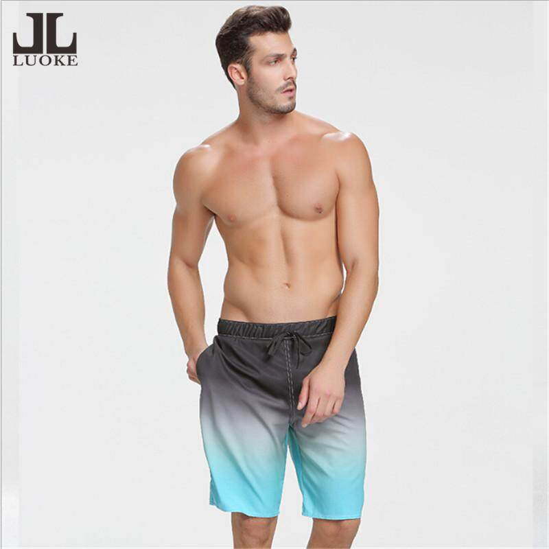db56c05cfc Luoke Summer gradual change blue quick drying Beach Board Shorts Man Men's  Swimwear Swim Trunk Sunga