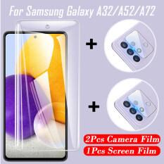 3 Trong 1 Samsung Galaxy A72 A52 A32 5G 1PCS Tempered Glass & 2 Miếng Dán Camera Mặt Sau HD Miếng Dán Bảo Vệ Màn Hình Cho Samsung Galaxy A52 A72 A32 4G & Miếng Dán Bảo Vệ An Toàn Phía Trước, Đối Với Samsung A52 A72 A32
