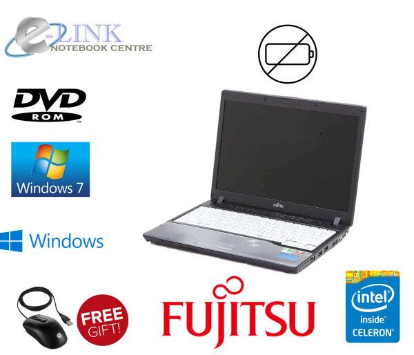 (REFURBISHED) NOTEBOOK FUJITSU LIFEBOOK P772/G  INTEL CELERON / 2GB - 4GB RAM DDR3 / 80GB HDD / 120GB SSD / NO BATTERY Malaysia