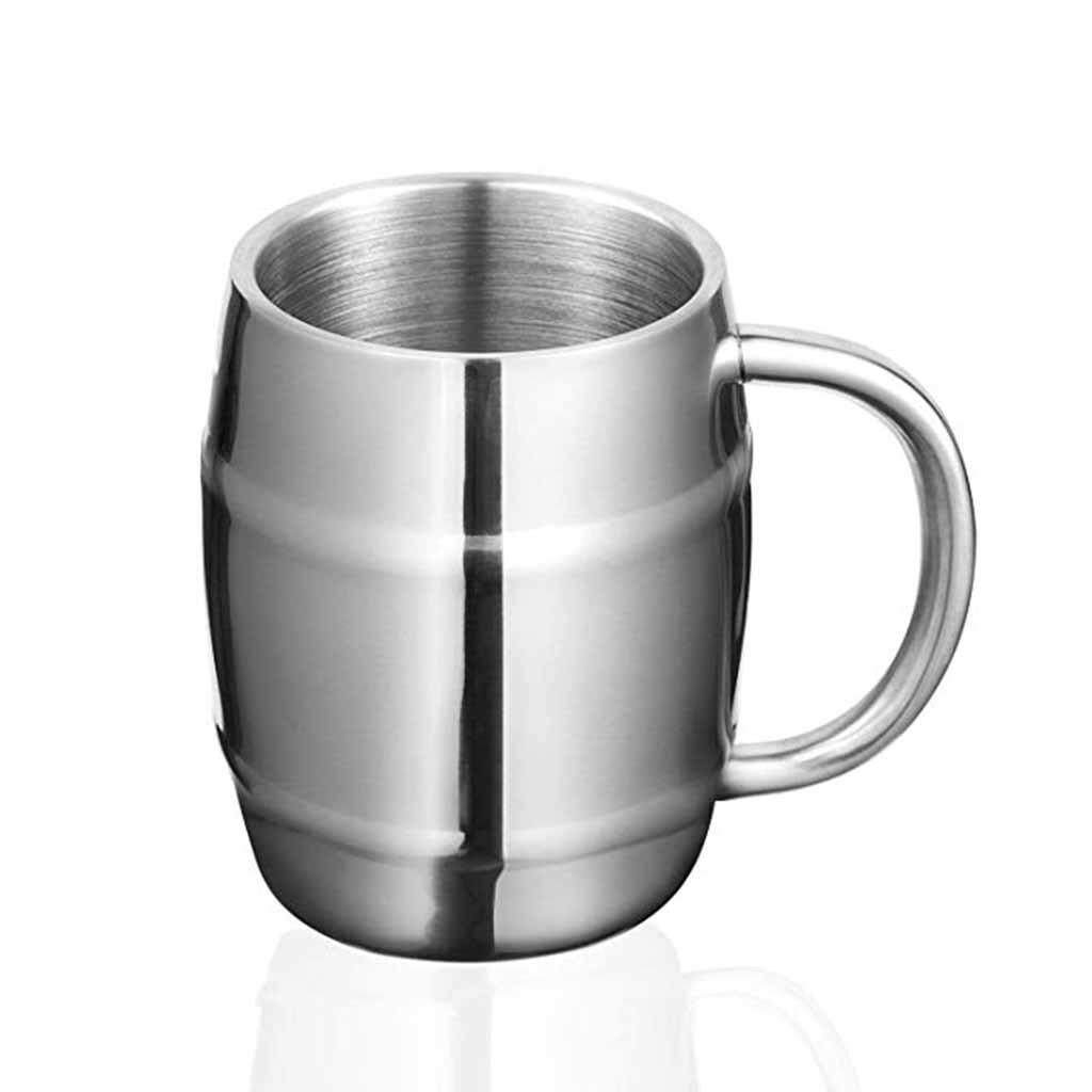 Fashion 425ml Mug Double Wall Stainless Steel Cup Coffee Milk Mug Kitchen Gad