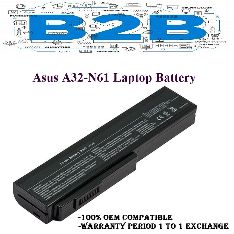 Asus M60VP / A32-M50 A32-N61 A32-X64 A33-M50 SERIES LAPTOP BATTERY