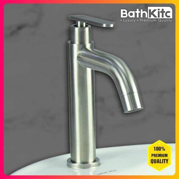 BATHKITC Hot Item Modern Design Premium Quality Stainless Steel 304 Bathroom Faucet Basin Cold Tap