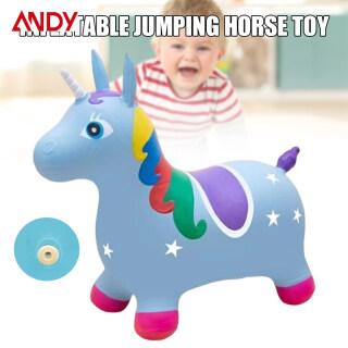ANDY Đồ Chơi Bơm Hơi Cho Trẻ Em Có Nhạc Ngựa Bouncy Nhảy Đầy Màu Sắc Đồ Chơi Động Vật Hoạt Hình Dễ Thương, Dành Cho Trong Nhà Ngoài Trời thumbnail