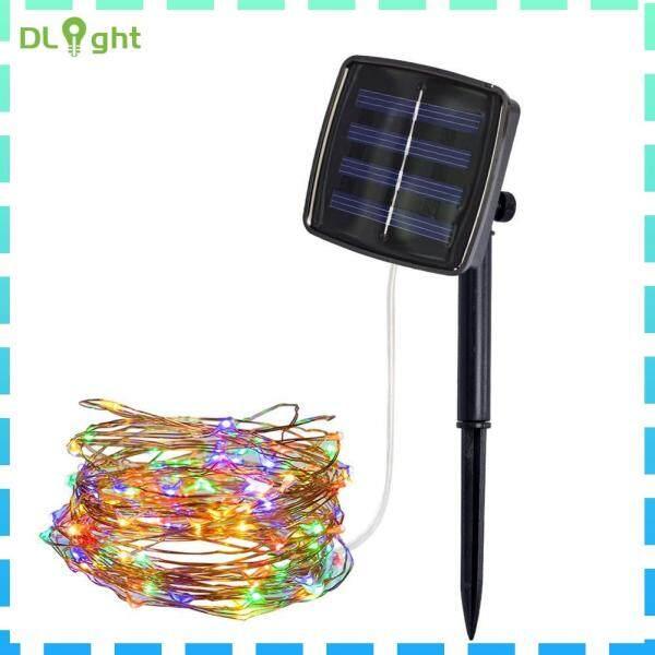 Đèn Trang Trí Vườn Ngoài Trời Đèn LED Dây Đồng Năng Lượng Mặt Trời 100/200