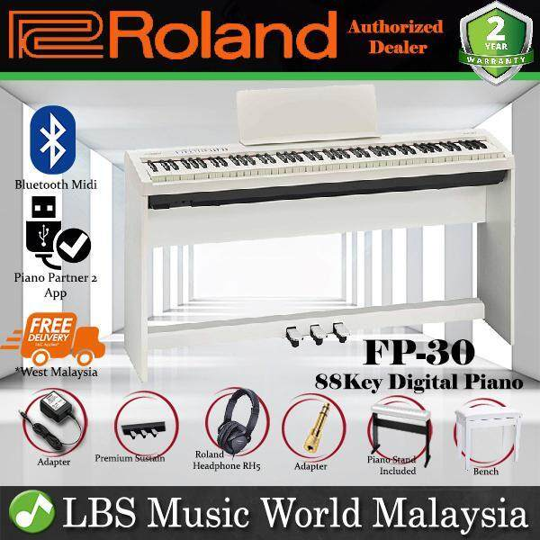 Roland FP-30 Digital Piano White Complete Package Electric Keyboard (FP30 / FP 30) Malaysia