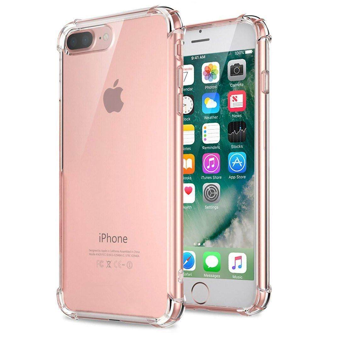 Iphone 7 Plus Case, Iphone 8 Plus Case, Silicone Clear Shockproof Case Cover Transparent Soft Tpu Bumper Phone Casing By Linkee.