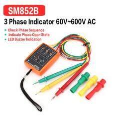 LALOVE SM852B 3 การหมุนเฟสลำดับมิเตอร์ระบุเครื่องตรวจจับ 60 V-600 V