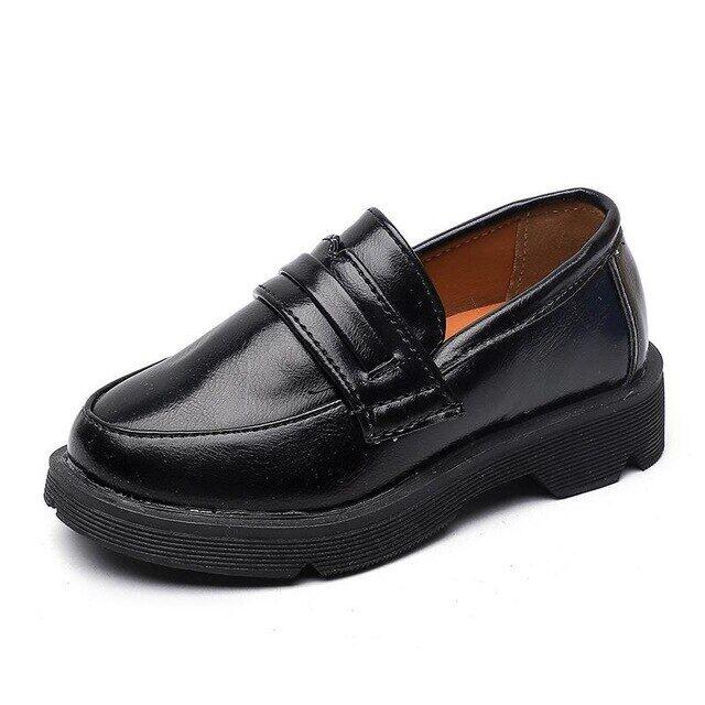 Giày Da Pu Cho Trẻ Em, GiÀY TÂY Oxford Cho Bé Trai Giày Lười Đồng Phục Học Sinh Nam Nữ Giày Cưới Trang Trọng Tiệc Cho Trẻ Em