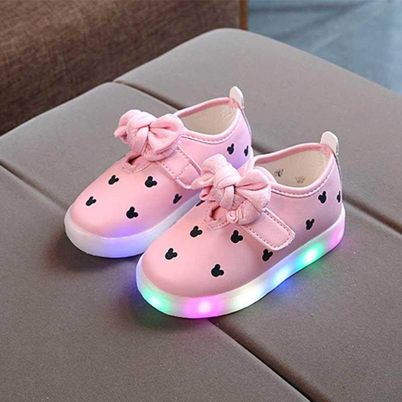 Giá bán Đèn LED Nhiều Màu Giày Phát Sáng Thể Thao Giày Chạy Bộ Trẻ Em Unisex Lưới Chắc Chắn Giày Trẻ Em Thể Thao Ngoài Trời Mềm