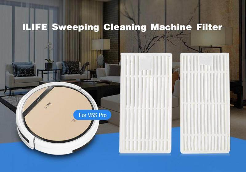 2PCS ILIFE Sweeping Cleaning Machine Filter for V5S Pro Vacuum Cleaner Singapore