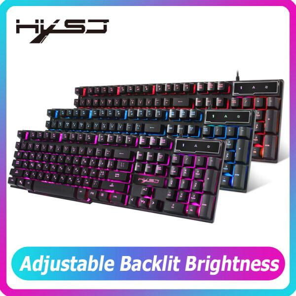 Bảng giá HXSJ R8 Bàn Phím Chơi Game 104 Phím Nga/Tiếng Anh Keybboard 3 Màu Sắc Đèn Nền LED Tương Tự Như Bàn Phím Cơ Cảm Thấy Cho Game Máy Tính Phong Vũ