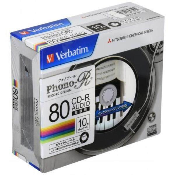 Verbatim Japan Mitsubishi Chemical Media Verbatim Music CD-R MUR80PHW10V1 (Phono-R/1-24 times speed/10 sheets) White