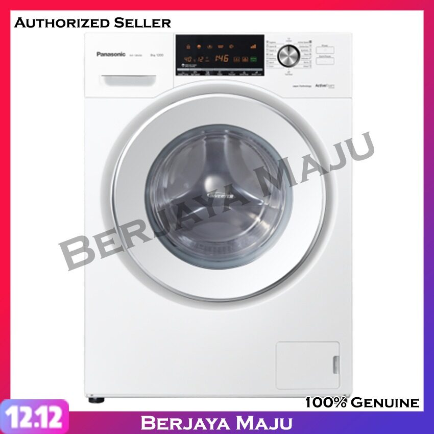 Panasonic 8.0KG Inverter Front Load Fully Washer NA-128VG6WMY