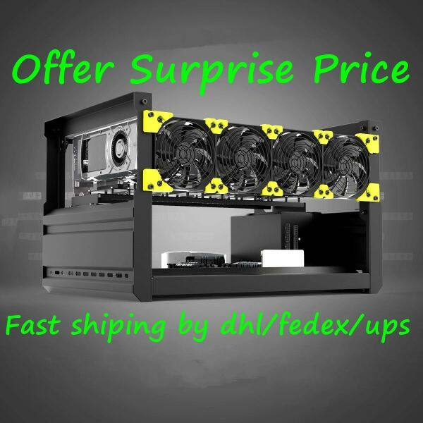 6GPU 6 GPU T3 Crypto Miner Case Aluminum Stackable Open Air Computer T2 ETH VEDDHA Mining Rig Frame For Bitcoin Unassemble