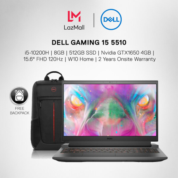 Dell G15 5510 (i5-10200H/8GB/512GB SSD/GTX1650 4GB/15.6 FHD 120Hz/ Win10 Home/ 2Yrs Warranty) Gaming Laptop + Backpack Malaysia