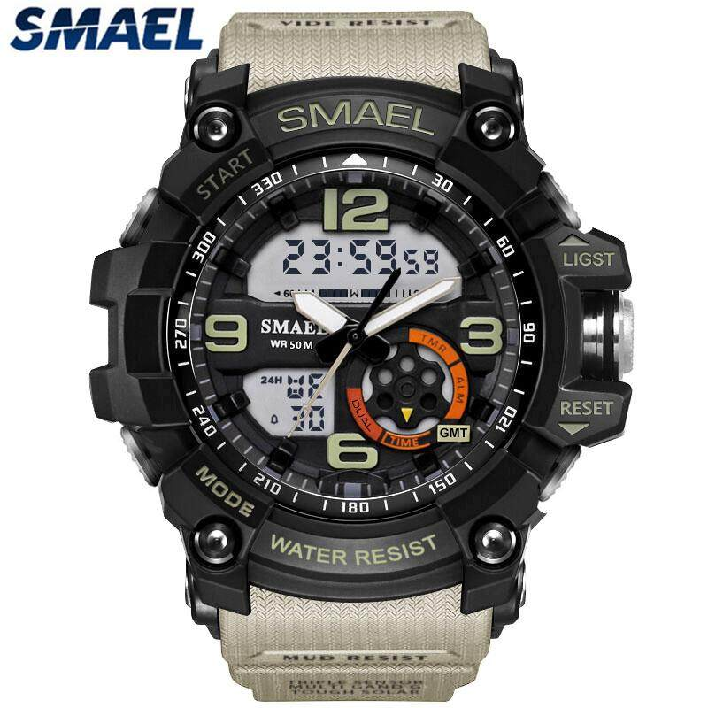 SMAEL Brand Men Sport Super Cool Digital Watch Fashion Waterproof Clock Luxury Brand LED Quartz Dual Time Homme Wrist Watches Malaysia