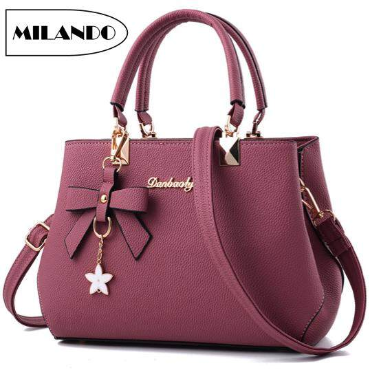 61b5e6f13d9b MILANDO Ladies Women PU Leather Handbag Tote Sling Bag Handbeg Beg Wanita  (Type 3)