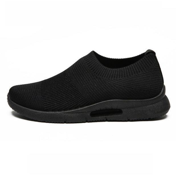 Phụ Nữ Của Sneakers Mùa Hè Giày Giày Thể Thao Nữ Đế Xuồng Chống Trượt Tất Lưới Màu Đen Thời Trang Cho Nữ Rộng Giày Đế Đi Bộ Giày 42 giá rẻ