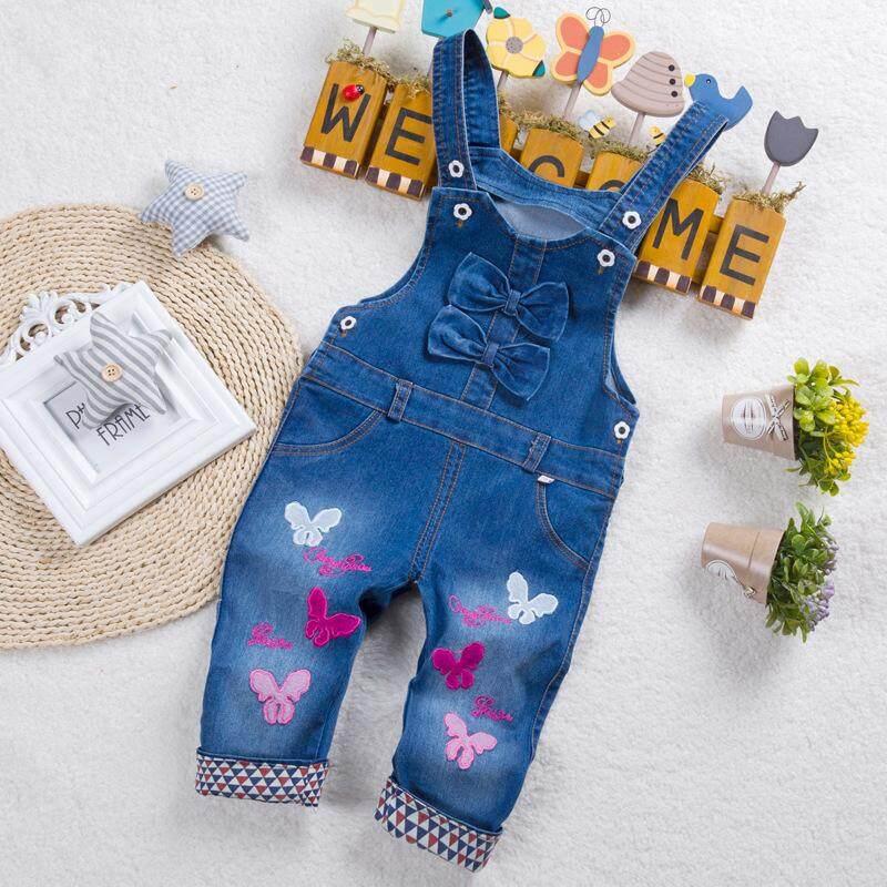 7af3b118d183c IENENS Kids Baby Girls Clothes Clothing Trousers Jumpsuit Playsuit Toddler  Infant Girl Long Pants Denim Jeans
