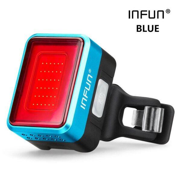 Mua Đèn Hậu Xe Đạp INFUN F50, Đèn LED Chạy An Toàn Khi Đi Xe Đạp, Đường Cảm Ứng Phanh Tự Động, Sạc MTB