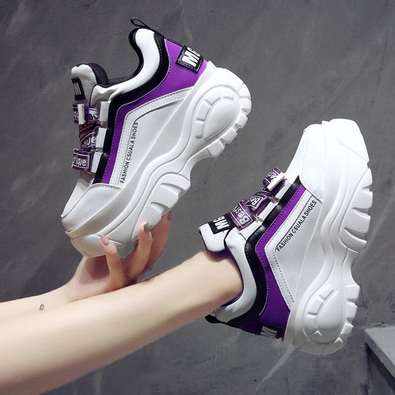 9 Cm/3.5 Inch Chiều Cao Wedge Sneaker Nền Tảng Giày Nữ Dày Đáy Phong Cách Mới Đa Năng Cao Cấp giày Thể Thao Cao Cấp Extra-Da Phong Cách Giày Trắng giá rẻ