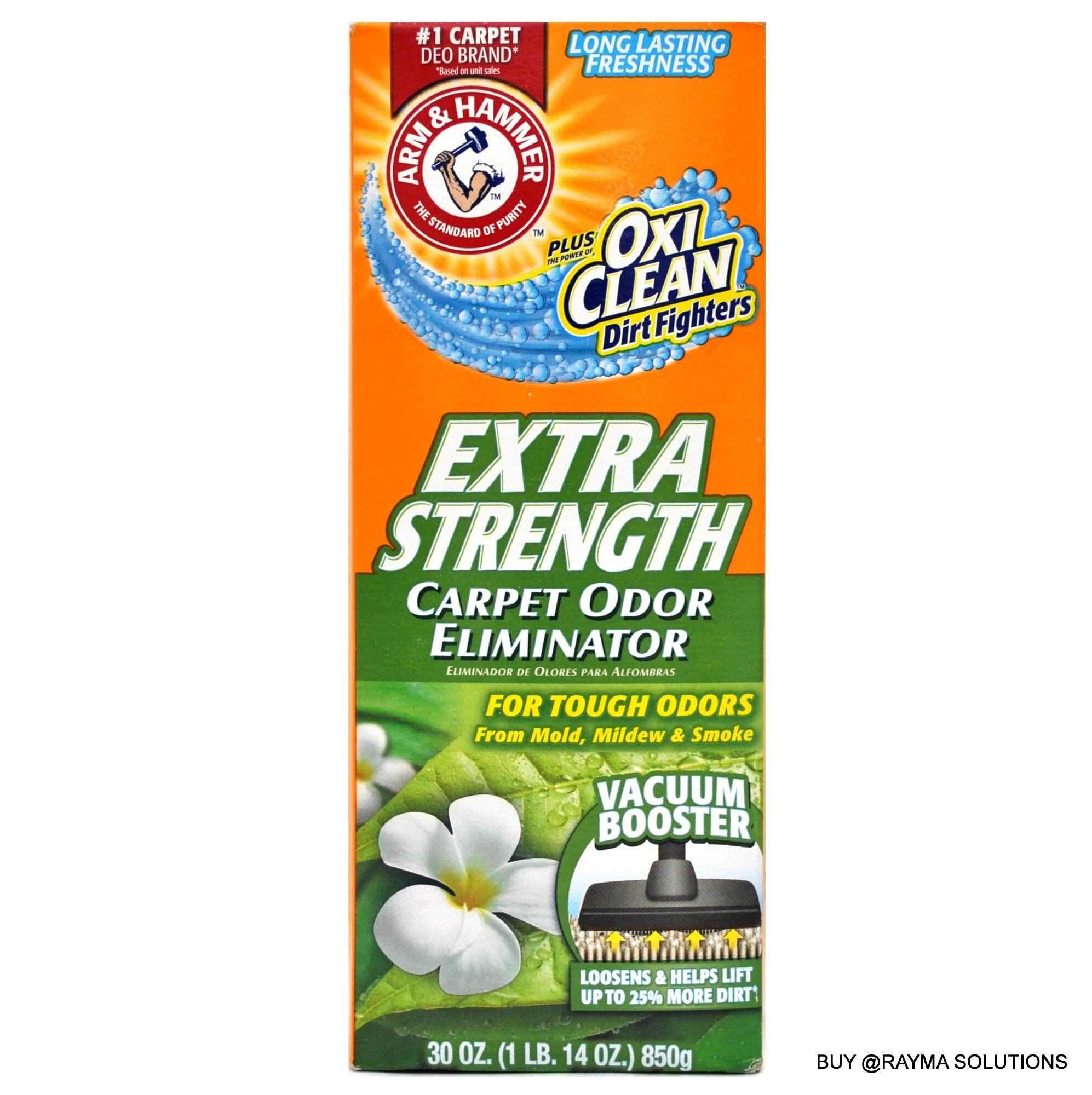 ARM & HAMMER Extra Strength Carpet Odor Eliminator, Plus OxiClean Dirt Fighters, 850g