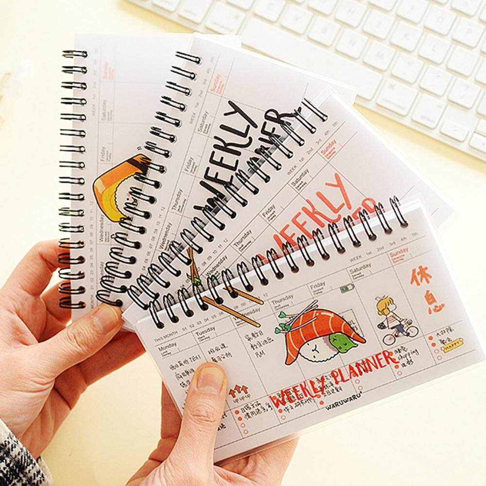 1pc Lovely Cartoon Weekly Planner Notebook Portable Diary Calendar Student Stationery School Office Supplies Random Style By Happy Sunshine.
