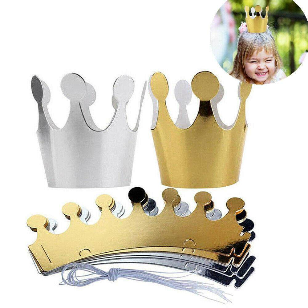 20x Shimmer Paper Crowns Kids Children Birthday Party Hats Fun Game Supplies By Aabb-Shop.