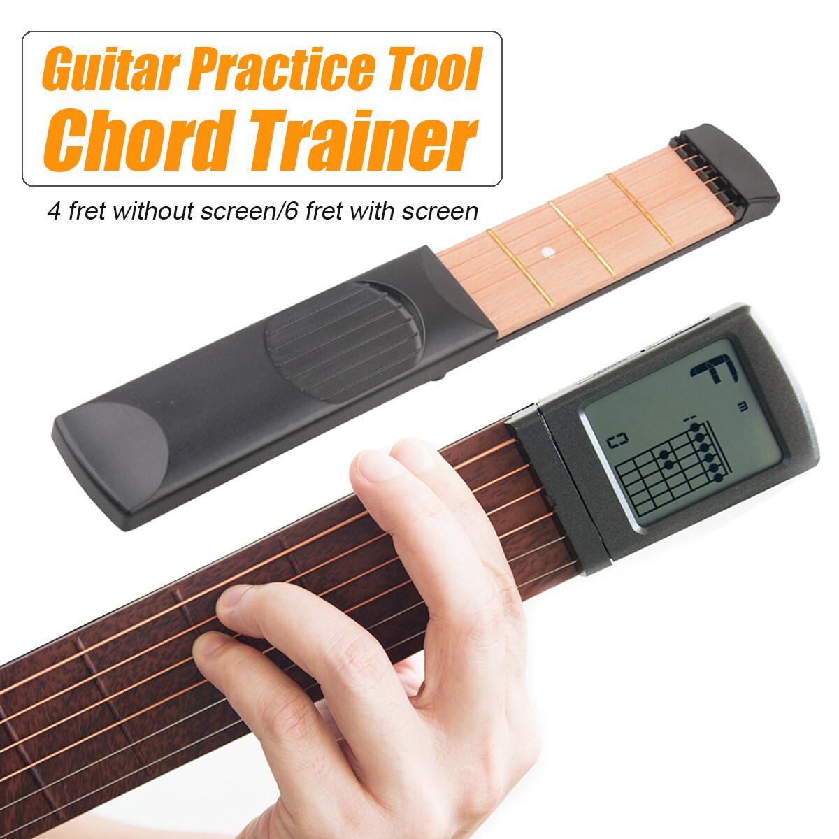 Dụng Cụ Luyện Tập Guitar Acoustic Bỏ Túi Tiện Dụng 4/6 Cấp Độ 6 Dây Dụng Cụ Luyện Tập Hợp Âm Có/Không Có Màn Hình Kỹ Thuật Số Cho Người Mới Bắt Đầu Bằng Gỗ Đen/Trắng/Xám