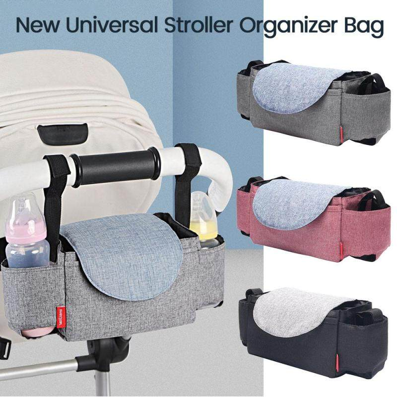 Secured Fit Extra Storage Easy Installation - Universal Stroller Organizer Fashion Waterproof Baby Stroller Organizer with Cup Holders Singapore