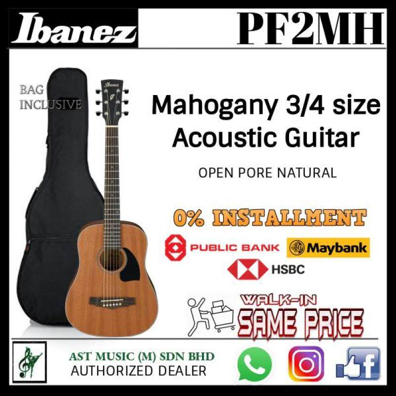 Ibanez PF2MH Acoustic Guitar Mahogany 3/4 size with bag - LIMITED Malaysia