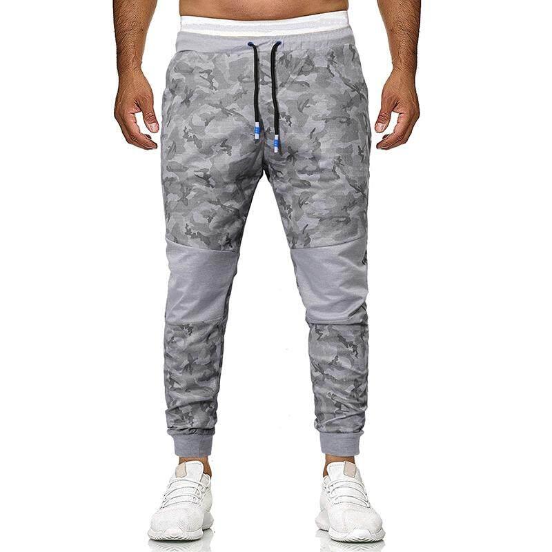 Joggers Sweats Sports Fitness Slim Fit Outwear Sportswear Sweatpants Camouflage Men Pants Joggers & Sweats Grey Black