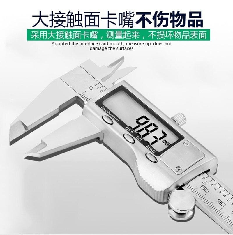 Digital display calipers with high precision vernier caliper mini measuring tool stainless steel 0-150mm