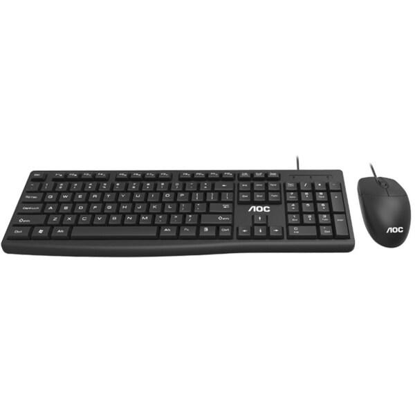 AOC KM151 USB Wired 1200DPI Office Desktop Laptop Mouse Keyboard Combos Set Singapore