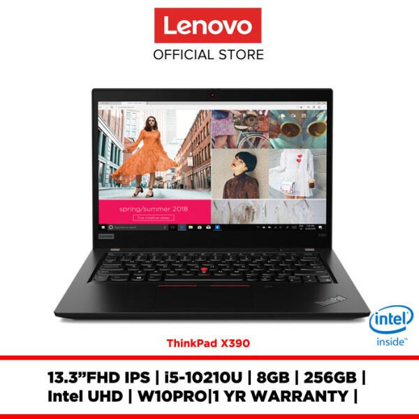 Lenovo Notebook Laptop ThinkPad X390 Black 20SCS02X00 13.3FHD IPS/I5/8GB/256GBSSD/INTEL UHD/W10PRO/1YRWRTY Malaysia