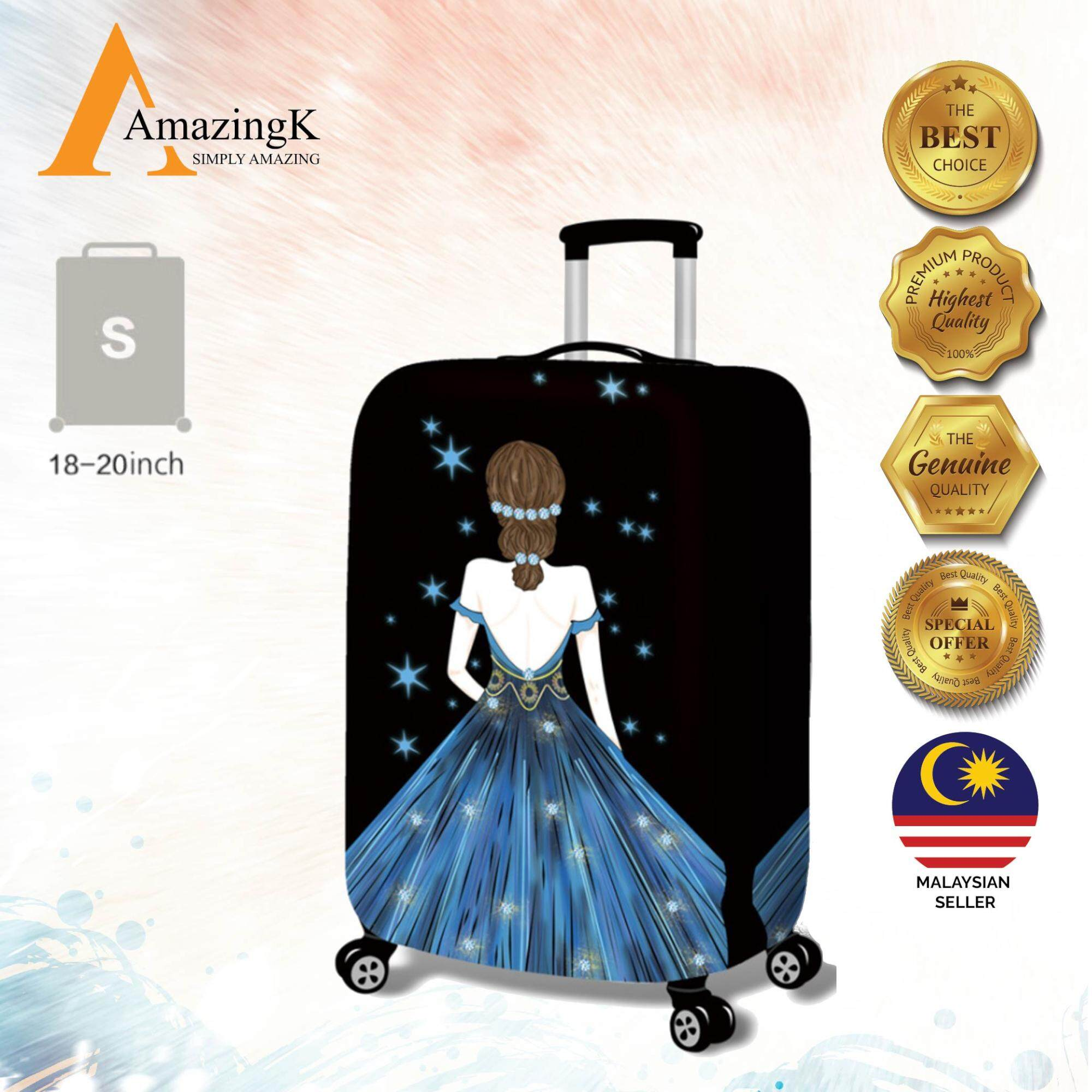 21203088a342 18-32   Denim 3D LADY STARS JEANS Elastic Travel Luggage Dustproof Cover  Trolley