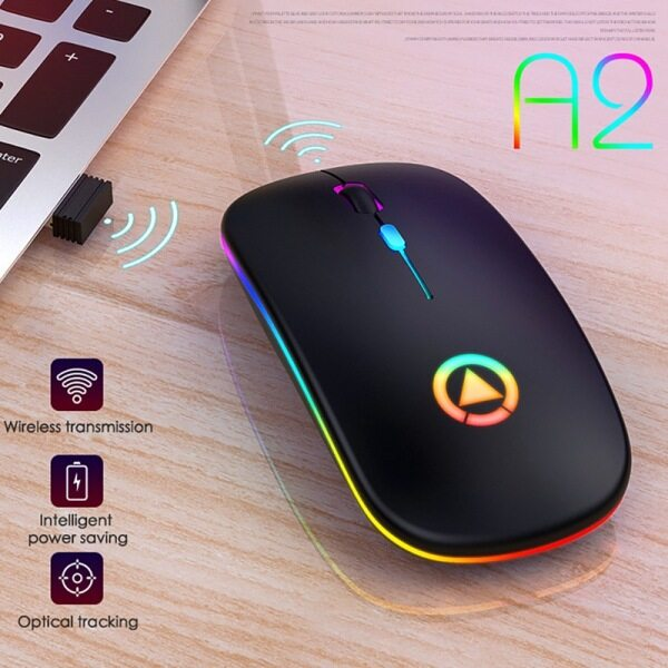 【Ready Stock】Lorrikate For Laptop Lightweight Portable Colorful Light Bluetooth Rechargeable Mute Wireless Mouse For Gaming Office DPI 16000 Optical Ergonomic Gaming Mouse