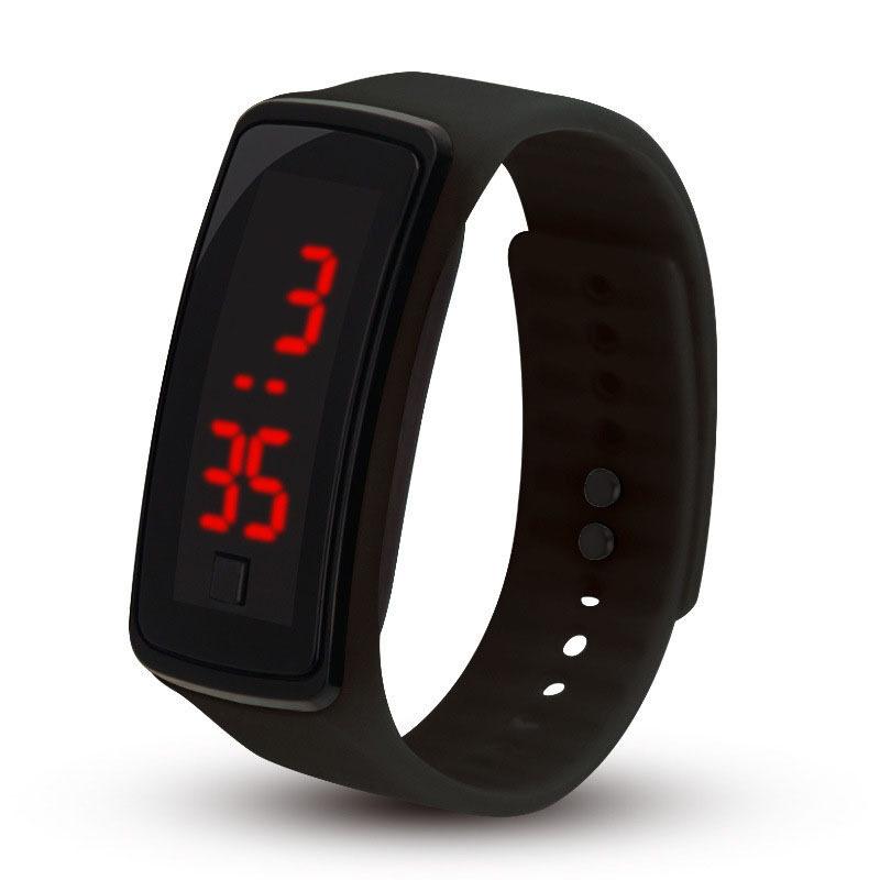 Nơi bán Khóa nhựa nổ Đồng hồ điện tử LED đồng hồ đeo tay Silicone trẻ em