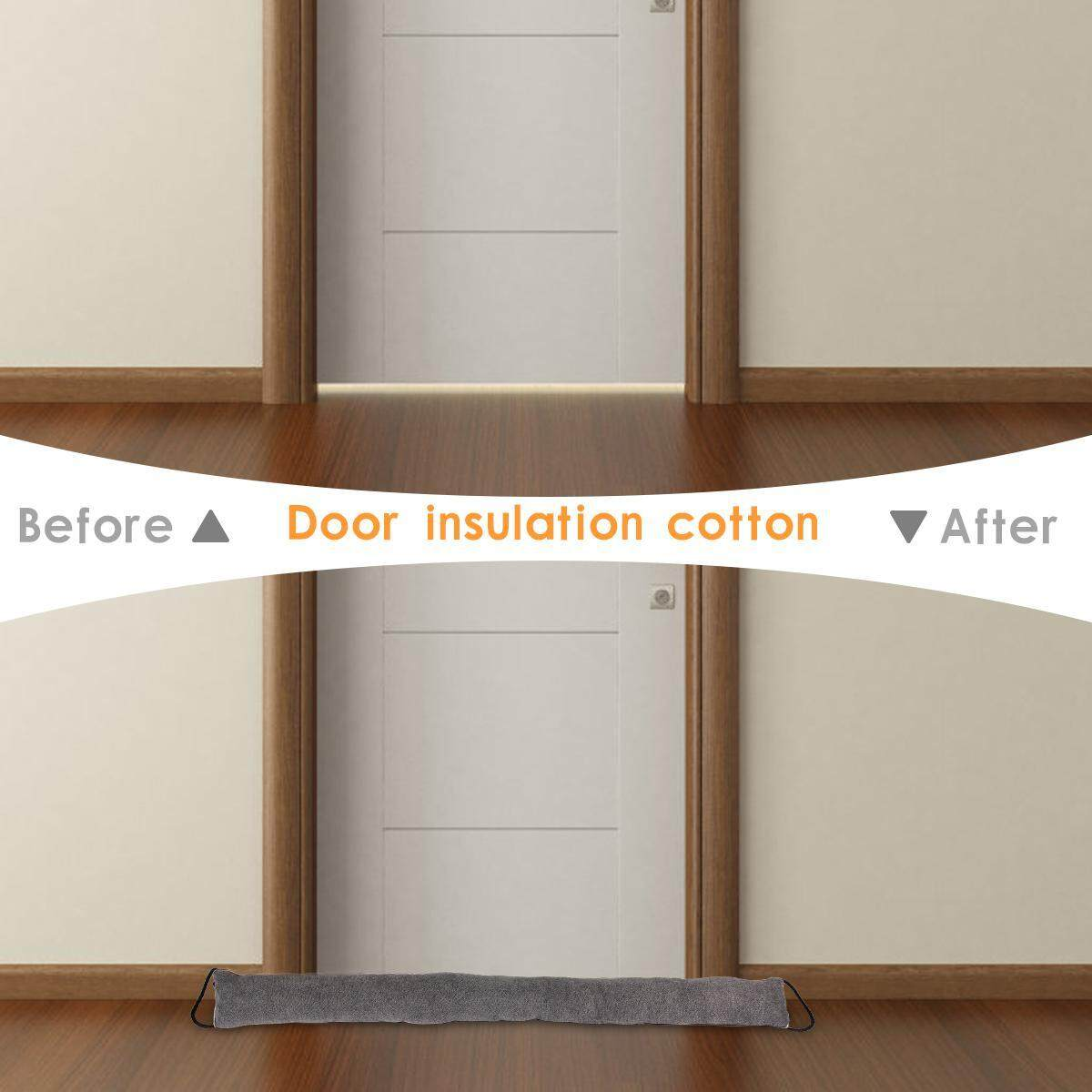 OnLook Door Noise Blocker, Weather Stripping for Doors Draft Stopper Sound Proof Bottom Seal Heavy Duty Reduce Noise Saving Energy Under Door Guard, 90x10x6CM (Grey)