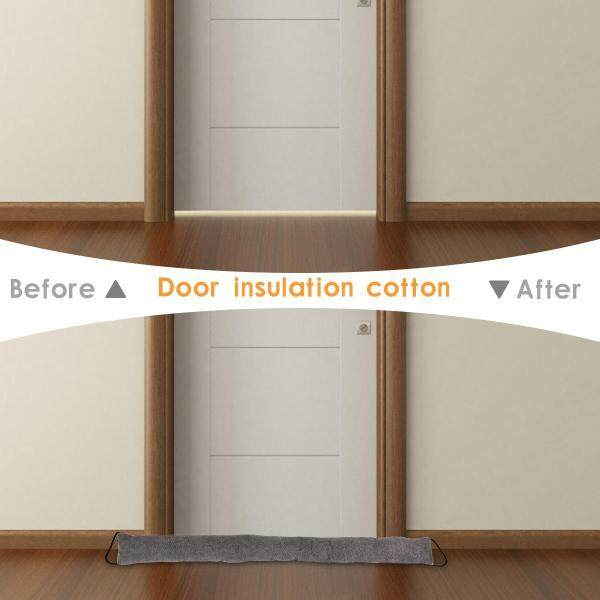 OnLook Door Noise Blocker, Weather Stripping for Doors Draft Stopper Sound Proof Bottom Seal Heavy Duty Reduce Noise Saving Energy Under Door Guard, 90x10x6CM (Grey)