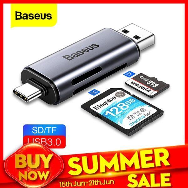 Bảng giá Đầu Đọc Thẻ Baseus 2 Trong 1, Đầu Đọc Thẻ Nhớ USB 3.0 & USB Type C Sang SD Micro SD TF, Đầu Chuyển Đổi OTG, Đầu Đọc Thẻ Nhớ Microsd Thông Minh Cho iPad Phong Vũ