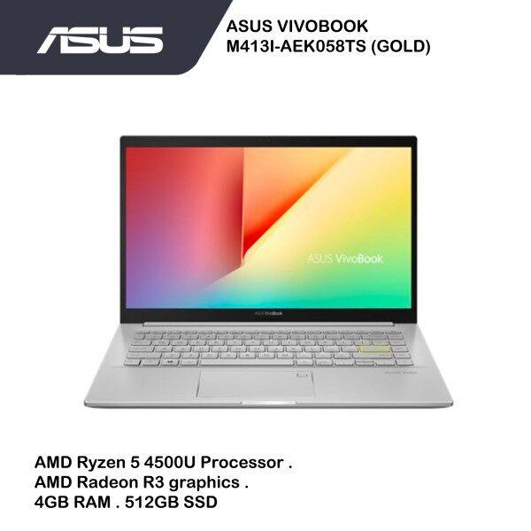 ASUS Vivobook M413I-AEK058TS (AMD Ryzen™ 5 4500U | AMD Radeon R3 graphics | 4GB | 512GB SSD | W10 | 2 Yrs warranty Malaysia