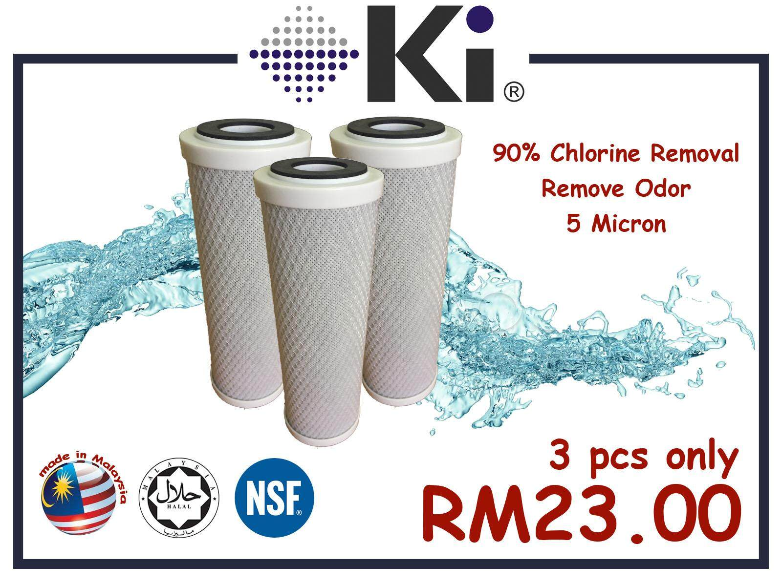 Water Filter Cartridges (halal) - Ki Cto (white) By Ki Carbon.