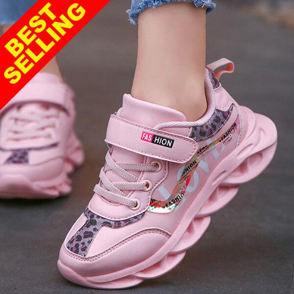 Giá bán Giày Chạy Bộ ZOCEN Cho Bé Gái Giày Thể Thao Thường Ngày Giày Chạy Thoải Mái PU Velcro giày Thường Ngày Cho Bé Gái