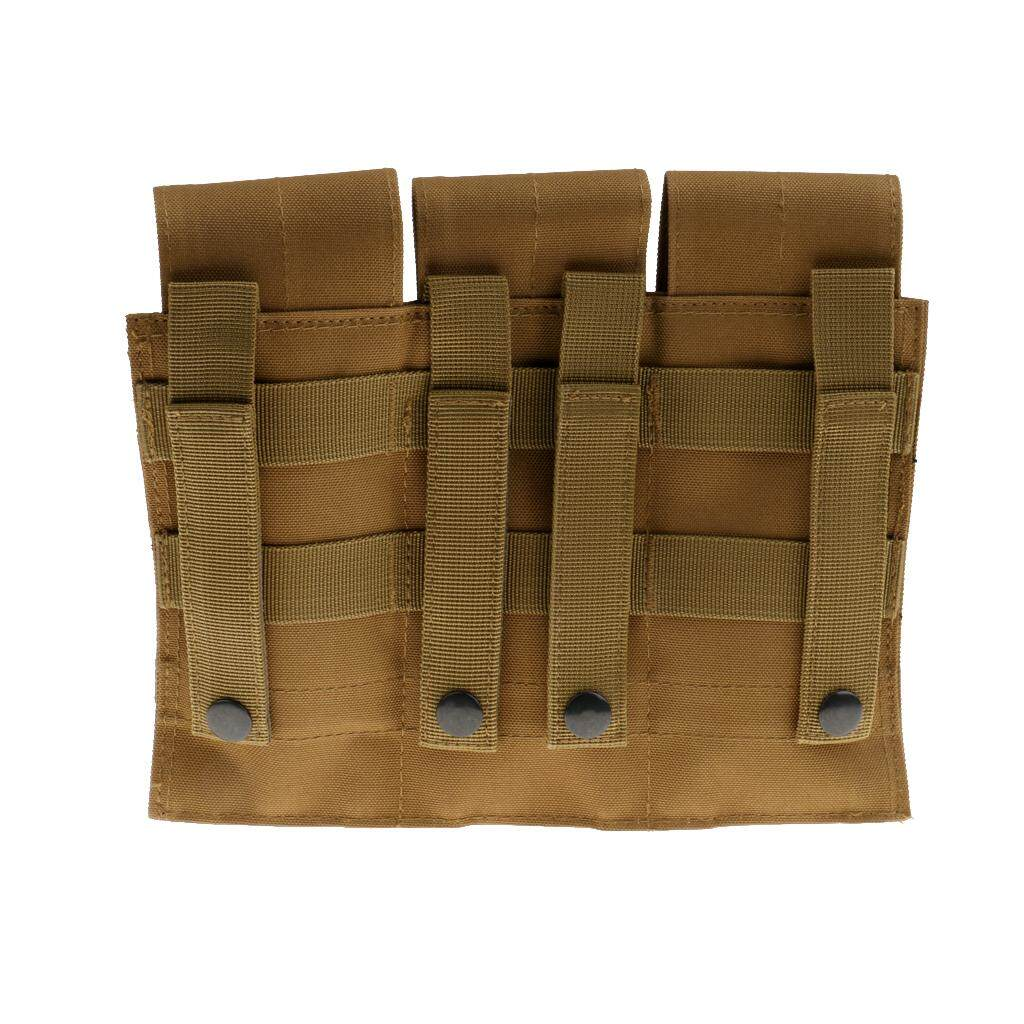 colaxi Outdoor Hunting Vest MOLLE Bag Triple Magazine Pouch Bag Adjustable Mag Holder Holster