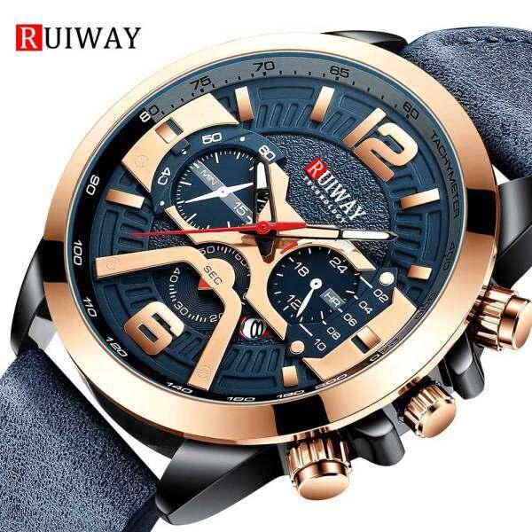RUIWAY Mens Watch Quartz Wristwatch Sports Male Stainless Steel Band Fashion Business Watch Malaysia