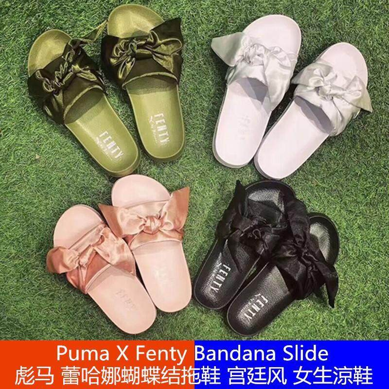 20b351d4eb6df7 new Puma X Fenty Bandana super Slide women Rihanna ribbon bow slippers  sandal