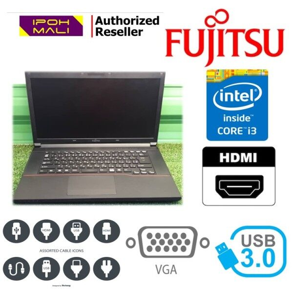 Laptop Fujitsu - Intel Core i3 / 4gb ram / 320GB HDD / Win7 (REFURBISHED) Malaysia