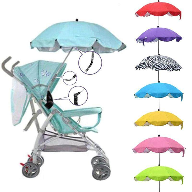 1* Beautiful Stroller Accessories Sun Rain Universal Durable Baby Sun Umbrella Shade Canopy Covers Pushchair Canopy Protect Parasol Buggy Singapore